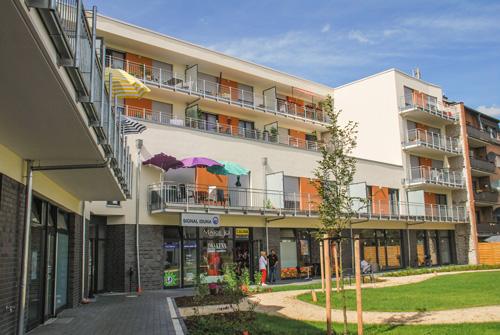 Seniorengerechte Wohnanlage mit Ladenlokale in Hürth, 9,85 Millionen Euro Investitionsvolumen.