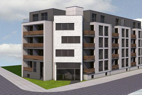 Studentenwohnungen in Duisburg, laufendes WDKI-Projekt. | Student housing in Duisburg (current WDKI-Project).